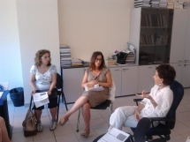 Meeting with tourist guides and volunteers in Siena, Italy